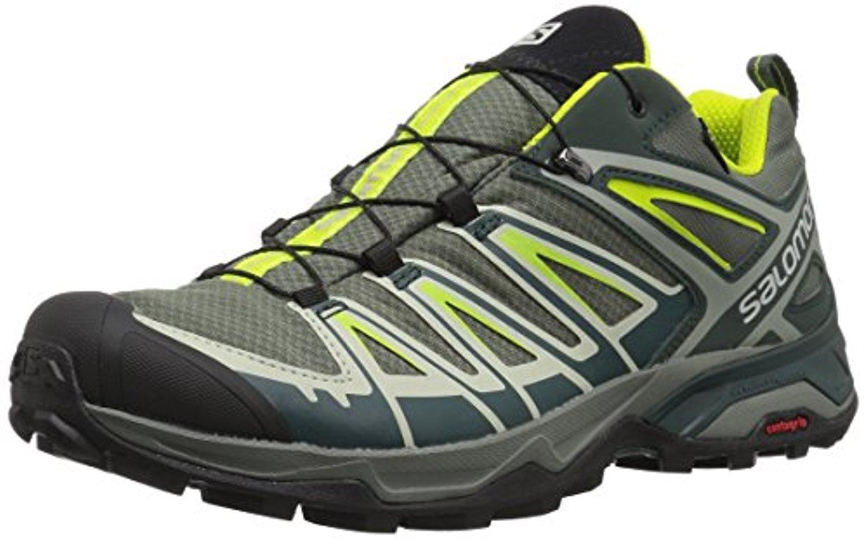 Salomon Men's X Ultra 3 GTX Shoes & Spare Quicklace Kit Bundle B079YWLMLY 11.5 D(M) US|Castor Gray / Darkest Spruce / Acid Lime