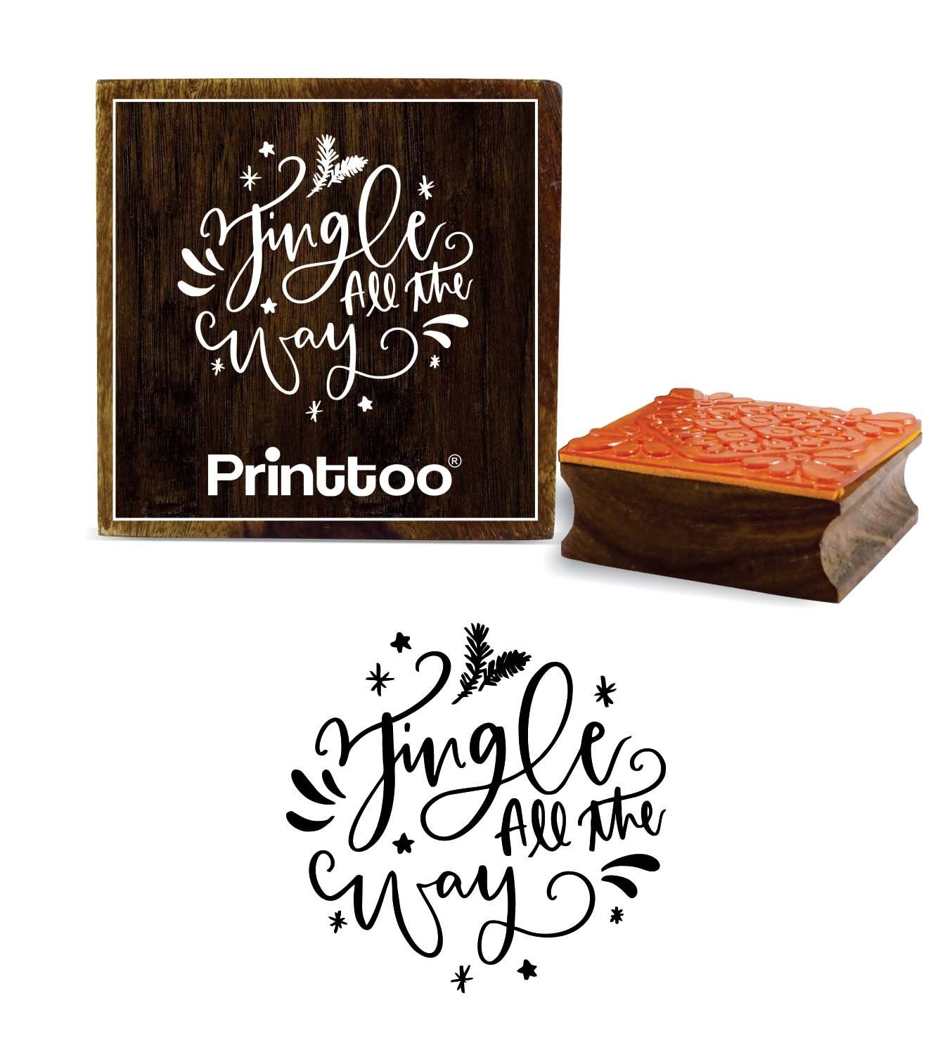 Printtoo Jingle All The Way Word - Agenda cuadrada de madera ...
