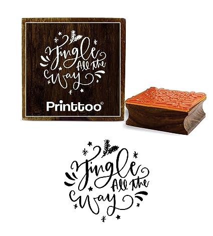 Printtoo Jingle All The Way Word - Agenda cuadrada de madera ...