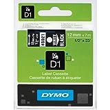 DYMO Authentic D1 Label Cassette, Black Print on