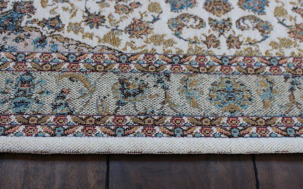 2 Feet 3 Inch X 4 Feet Non Slip Backing Washable Traditional Floral Area Rug Masada Rugs Beige