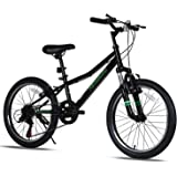 Petimini 20'' Kids Mountain Bike for 5-9 Years Old Boys Girls with Shimano 6 Speeds Drivetrain,Suspension Fork,3 Colors…