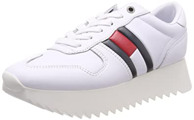 26c2447e Amazon.com | Tommy Hilfiger High Cleated Sneaker Womens Trainers ...