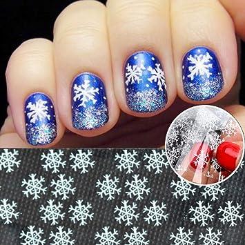 Amazon 10pcs Snow Flower Designs Transparent Small Snow Flakes