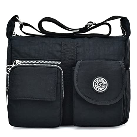 ed9174464b48 Amazon.com  Toniker Women s Shoulder Bags Casual Handbag Travel Bag  Messenger Cross Body Waterproof Nylon Bags  Sports   Outdoors