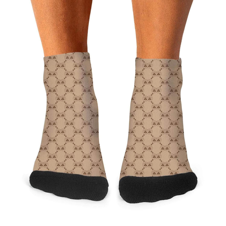 Young Men Crew Socks Non Slid Cute Workout Elastic Short Socks