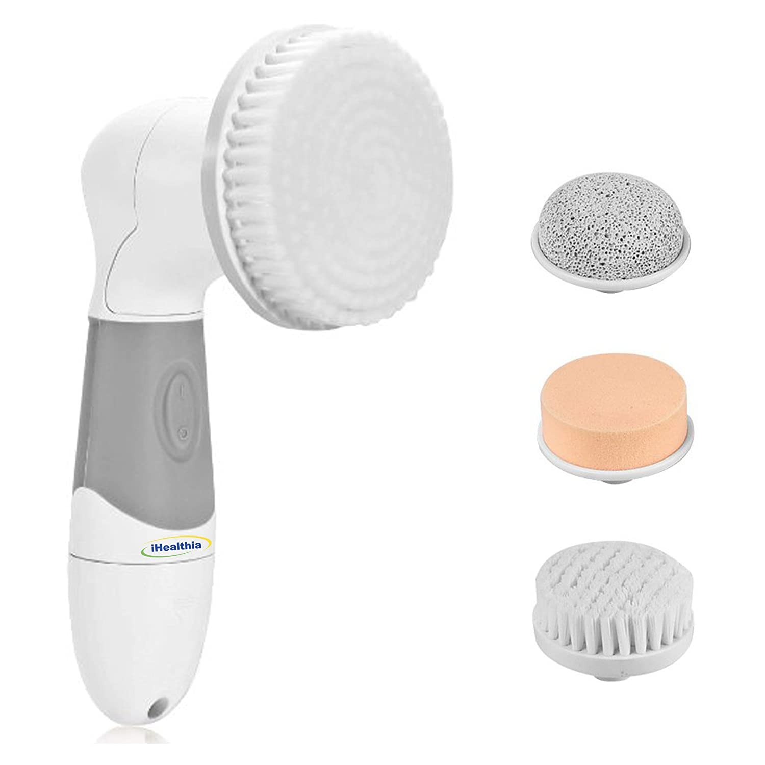 New! Face & Body Skin Cleansing Brush. Best Deep Cleansing | Exfoliating Microdermabrasion | Pore Minimizer | Blackhead Remover | Acne Scars & Dark Spots Corrector - Perfect At Home Spa Treatment Kit Discovery Health