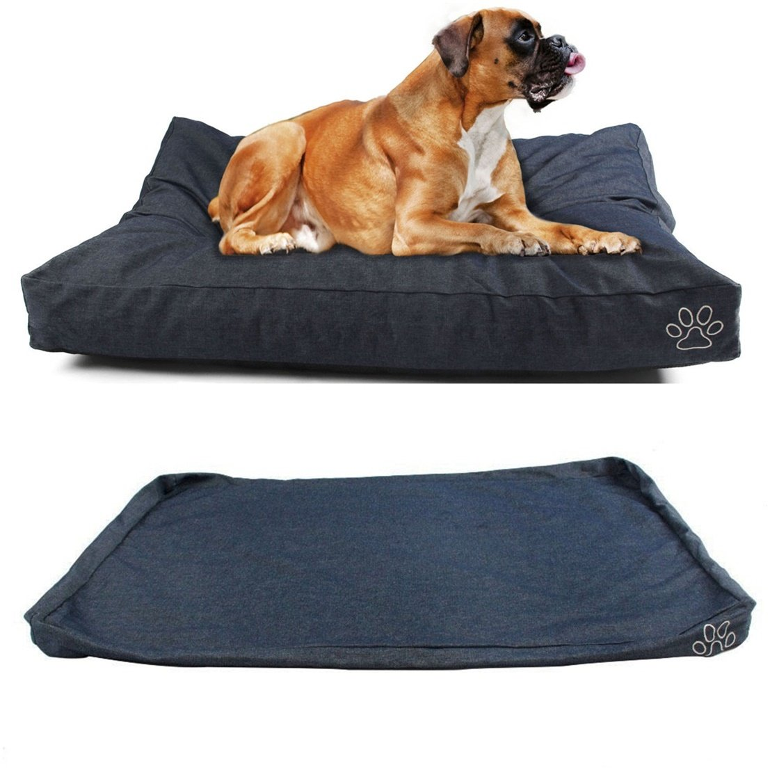 1Pcs Culminate Popular Pet Bed Cover Size L 36'' x 29'' Large Mat Dog Comfort Washable Color Type Blue Denim