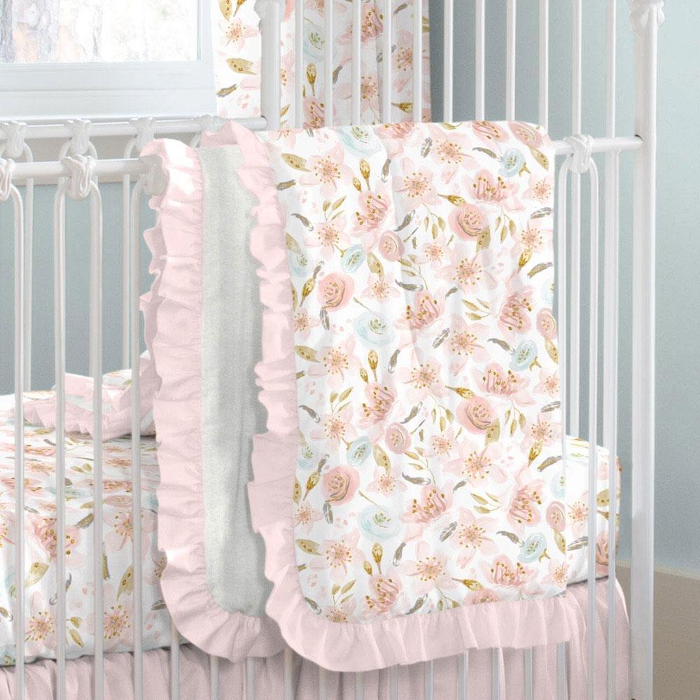 Carousel Designs Pink Hawaiian Floral Crib Comforter