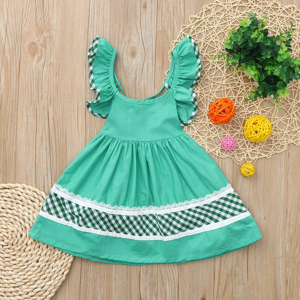 Amazon.com: Princess Dress Ceremony Babies Girls Open Back Lace Check Print Ball Gown Wedding Birthday Party Dresses Toponly: Arts, Crafts & Sewing