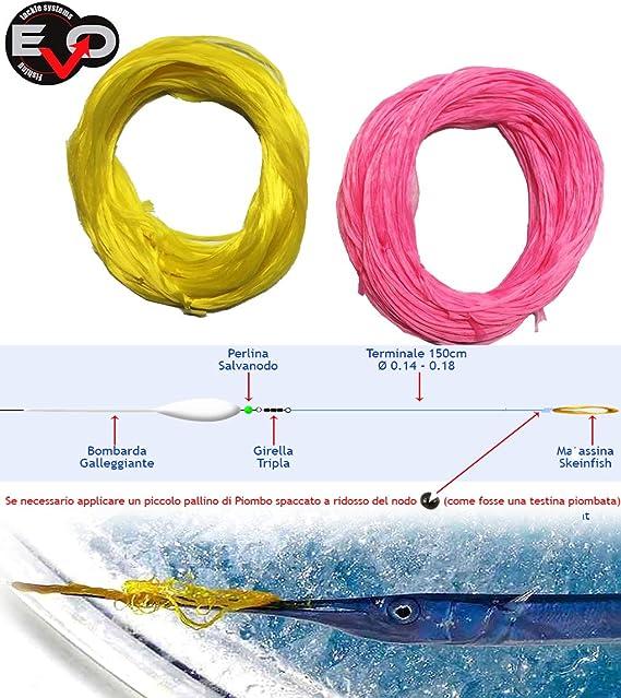 EVO FISHING Kit 10 matassine Pesca A Las Marlin Spinning Arrastre ...