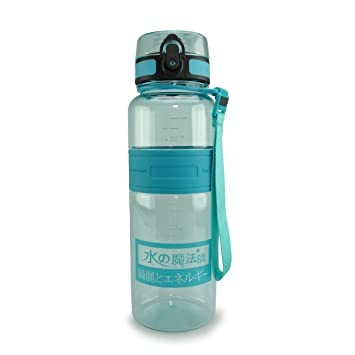 SMARDY Tritan Botella de Agua para Beber -Turquesa - 1000ml - de plástico sin BPA