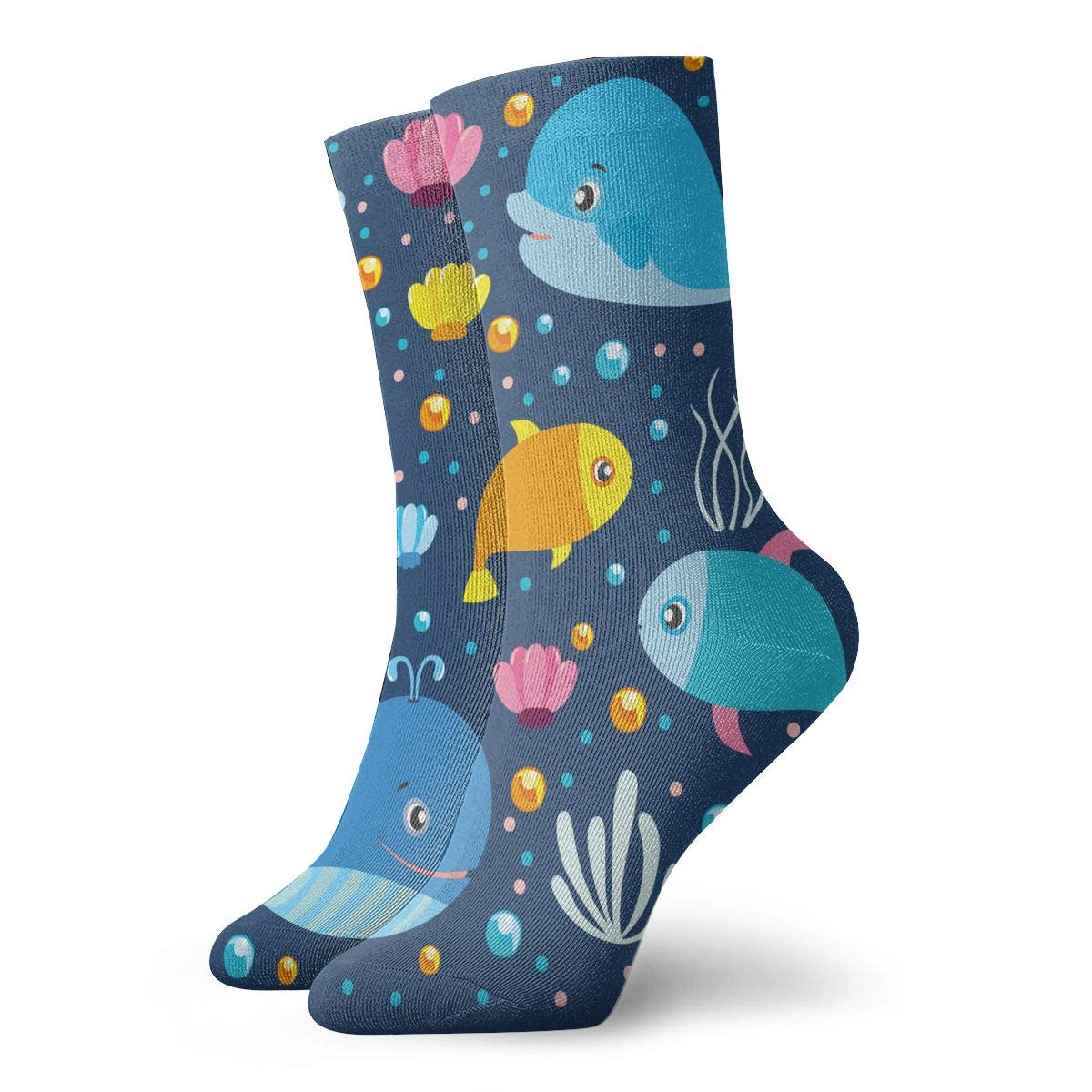 Explore The World Unisex Funny Casual Crew Socks Athletic Socks For Boys Girls Kids Teenagers
