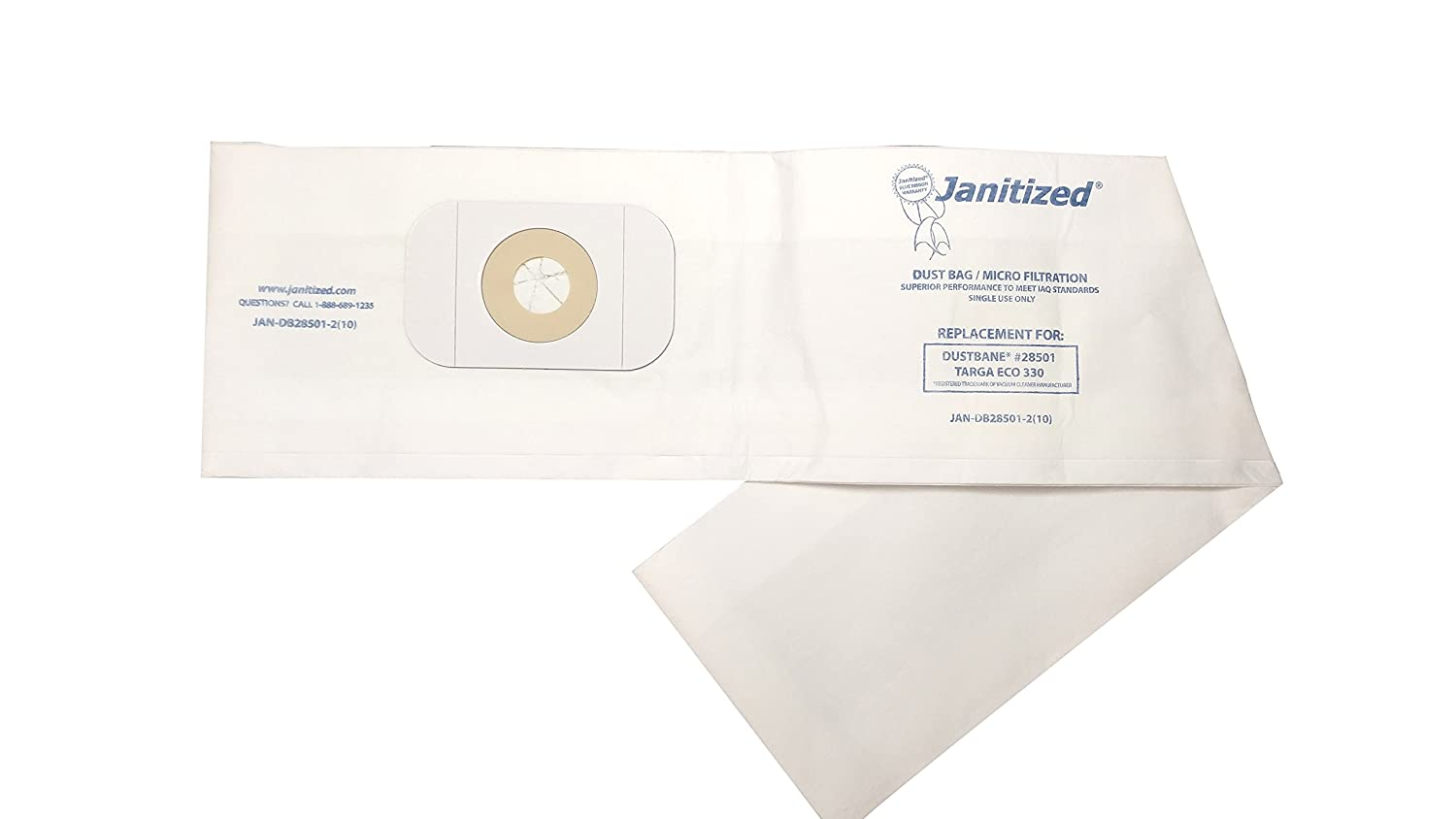 -EA Premium Replacement Commercial Vacuum Bag for Dustbin 28501//Targa Eco 330 7 Length Pack of 10 1 Height 32 Width 7 Length 10 32 Width Pack of 10 APC Filtration OEM# 28501 Janitized JAN-DB28501-2 1 Height