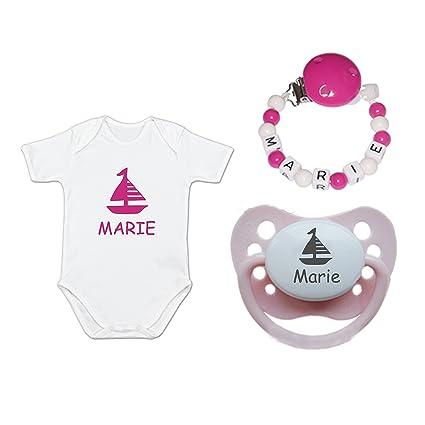 schnullir escaneado Baby Set de regalo con nombres (Verano ...