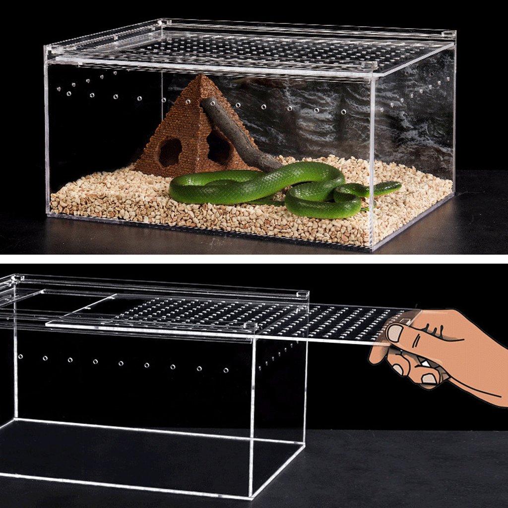 B Blesiya Reptile Insect Spider Turtle Tank Acrylic Transparent Breeding Box Vivarium Lid 15x12x12cm by B Blesiya (Image #7)