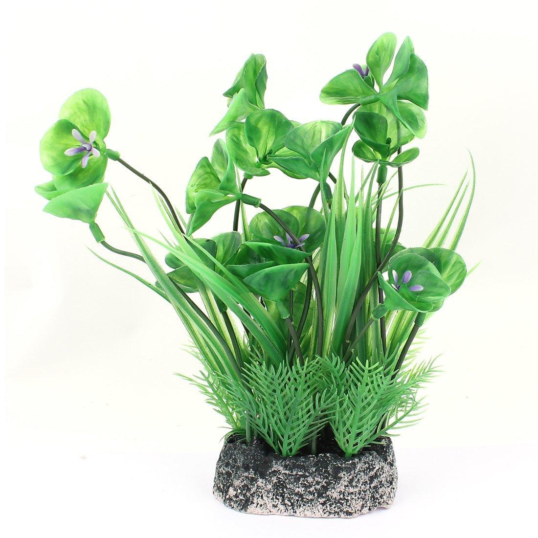 1Pc 10-Piece Plastic Aquarium Plants Decoration, 4.1-Inch, Light Green