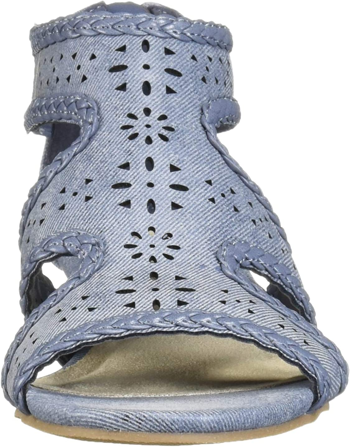 Easy Street Womens Thelma Dress Casual Sandal with Back Zipper Wedge