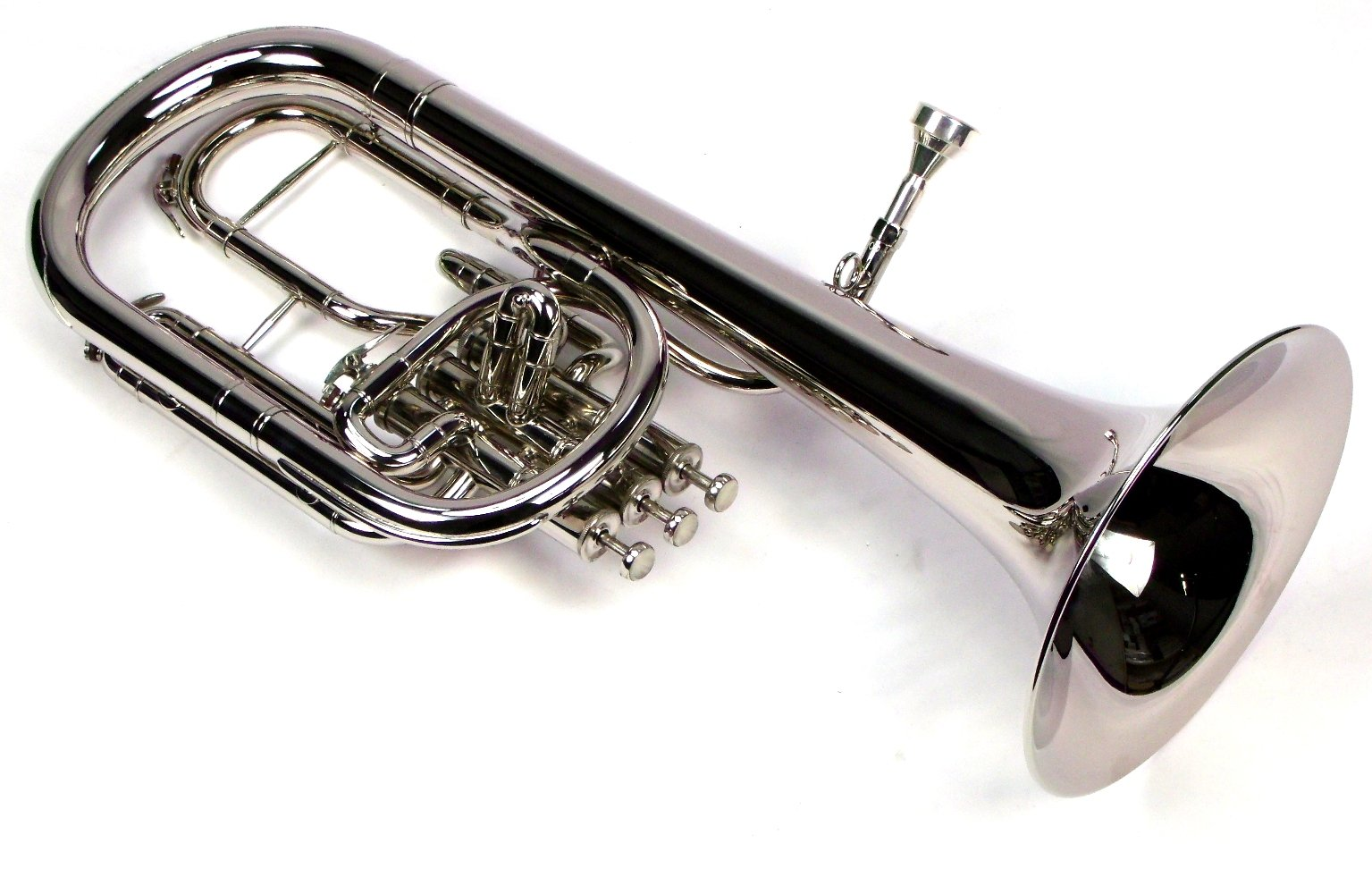 Intermediate Monel Pistons Alto Horn w/Case & Mouthpiece-Nickel Plated Finish by Moz (Image #4)