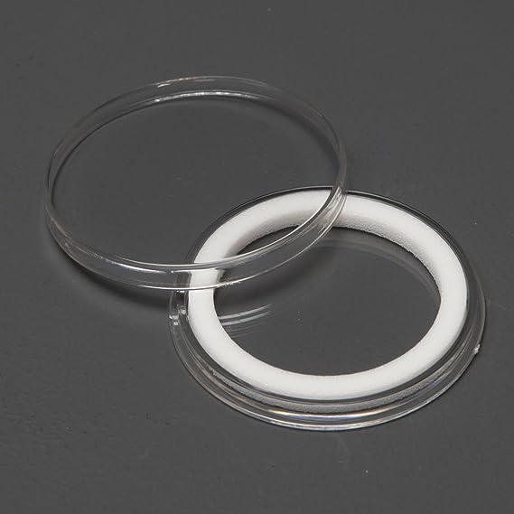 1 Black Leatherette Coin Presentation Box w// X43mm Black Ring Air-Tite Capsule
