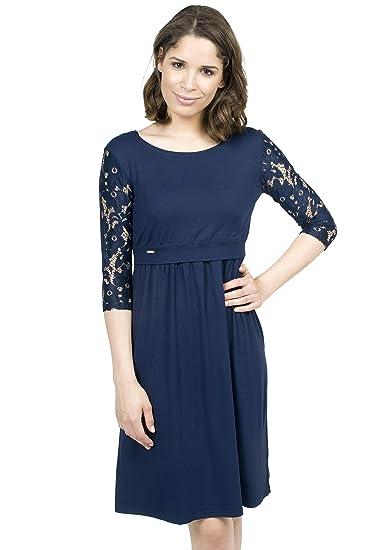 Mania Stillkleid Elegance Schicke Bequeme Stillmode Ermöglicht Diskretes Stillen Stillkleid Langarm Shirt A Linie Figurschmeichelnd In