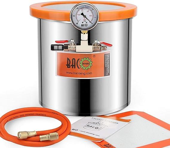 OldFe 3 Gallonen Vakuumkammer 12 L Edelstahl Vakuumkammer