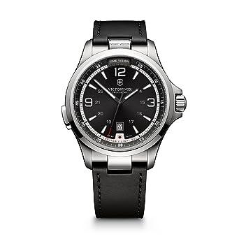 441cedb2a Victorinox Men's Night Vision Titanium Swiss-Quartz Watch with Rubber  Strap, Black, 21