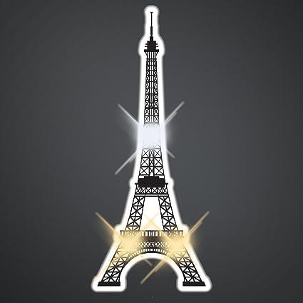 Amazon.com: Torre Eiffel Light Up Flashing LED Pins ...
