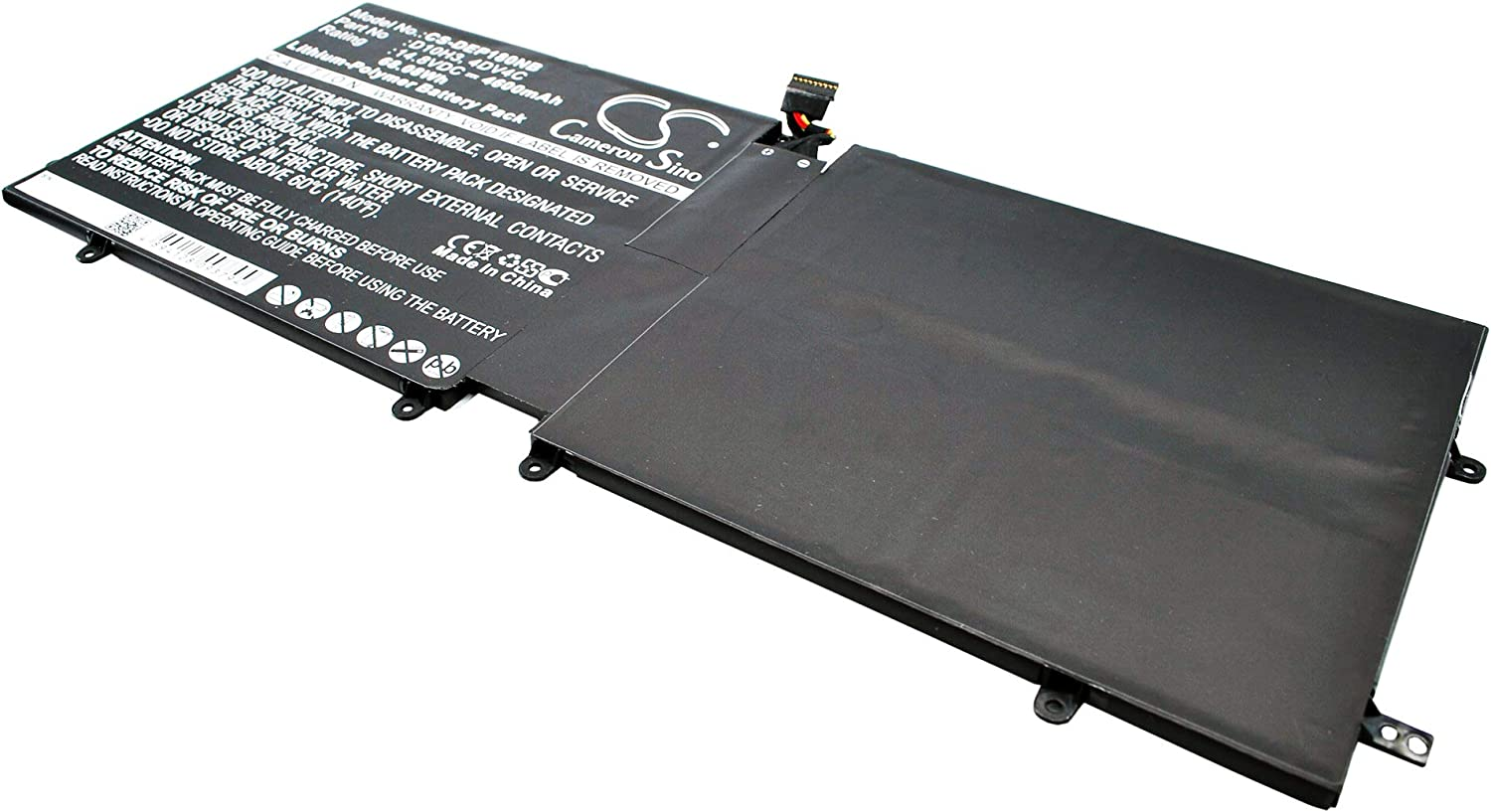 4600mAh Replacement for DELL XPS 18, XPS 18 1810, XPS 18 1820 Battery, P/N 4DV4C, 63FK6, D10H3