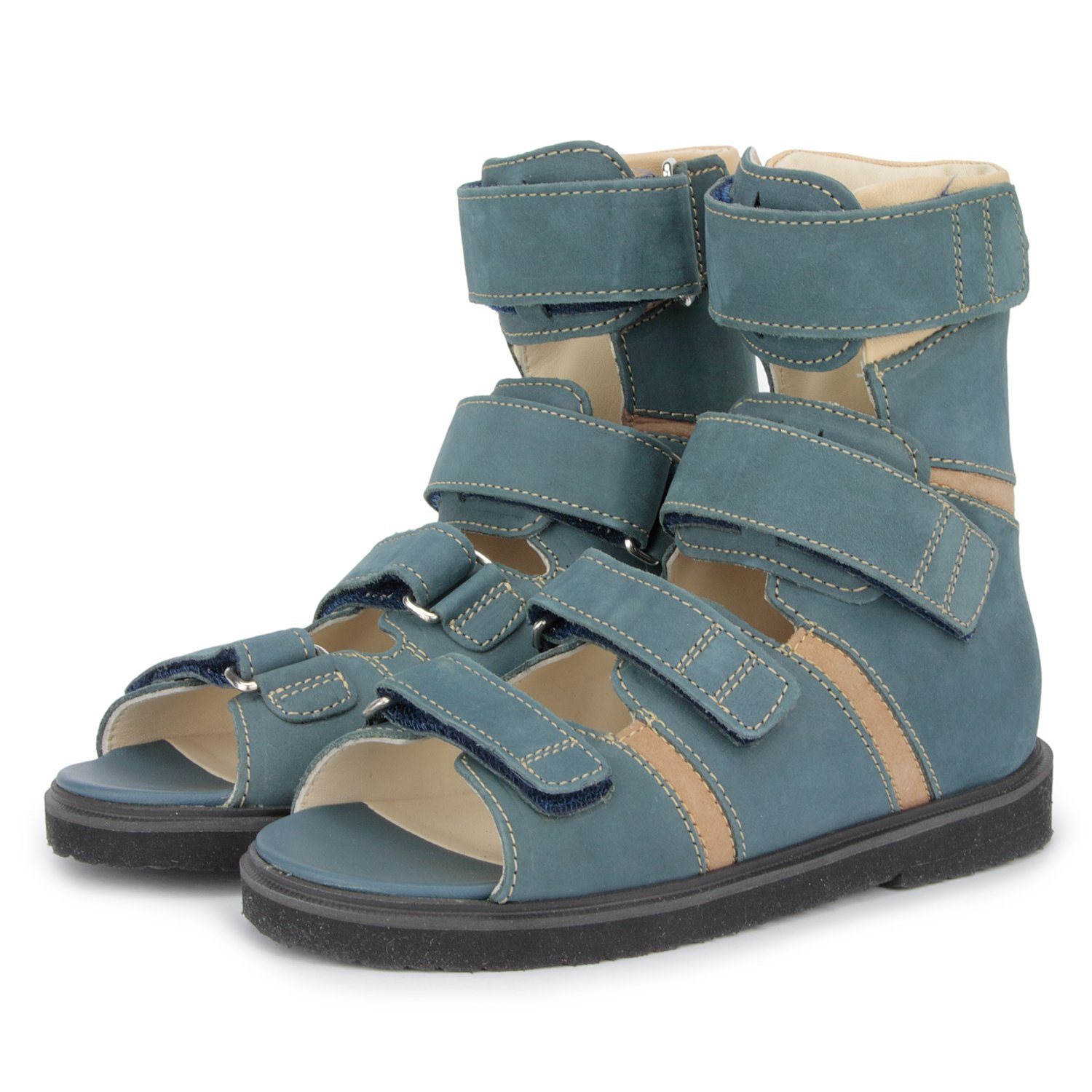 Memo Basic 1CH Suede CP Kids AFO Brace Sandal, 12.5 Little Kid M (30) by Memo (Image #9)