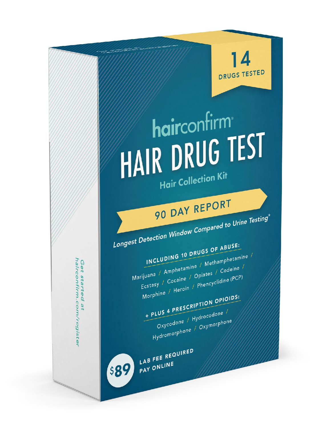 HairConfirm 14 Panel Hair Drug Test Collection Kit Only, 90 Days Detection  Additional Lab Fee Required
