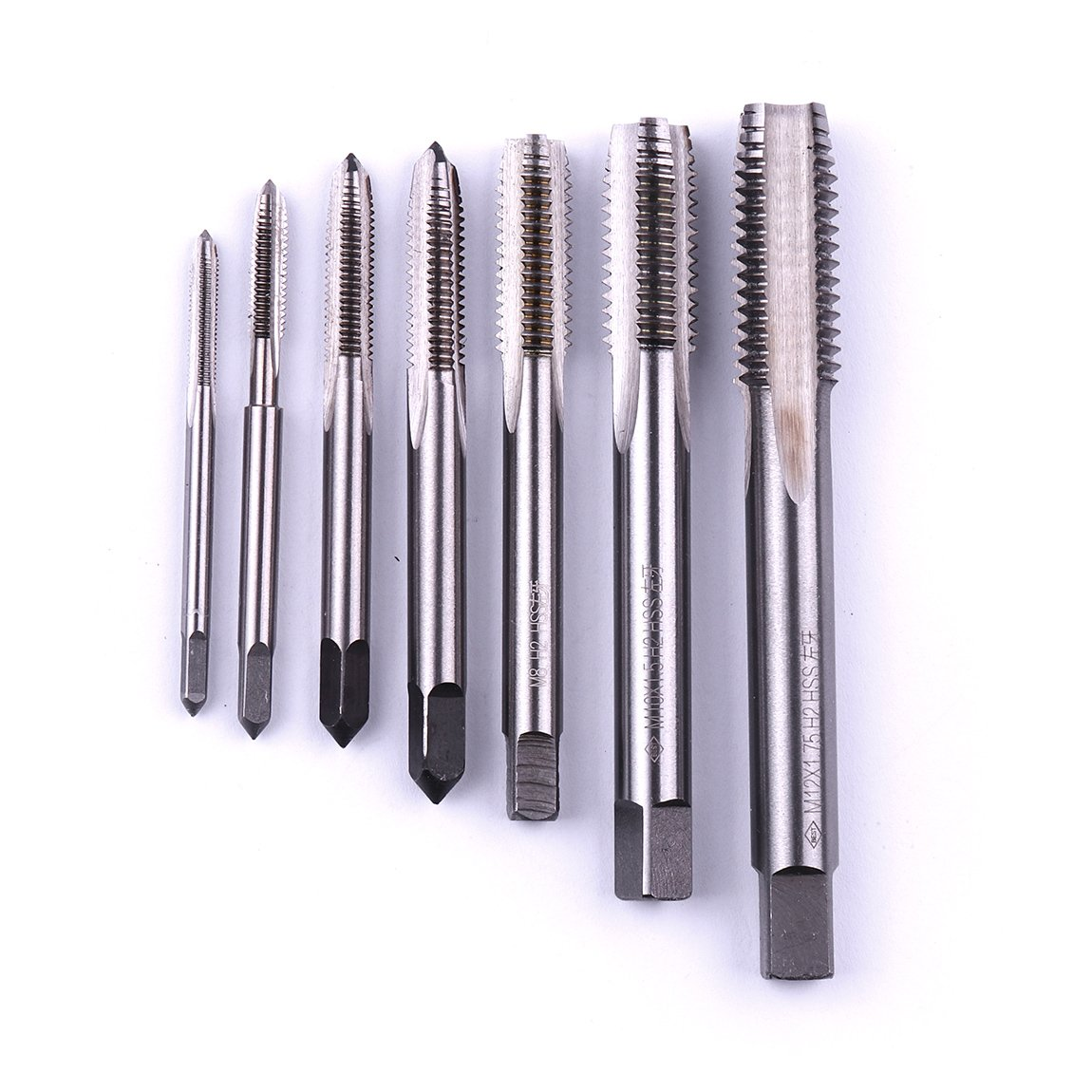 Atoplee 7pcs Metric HSS Left Hand Thread Tap M3-M12 by ATOPLEE