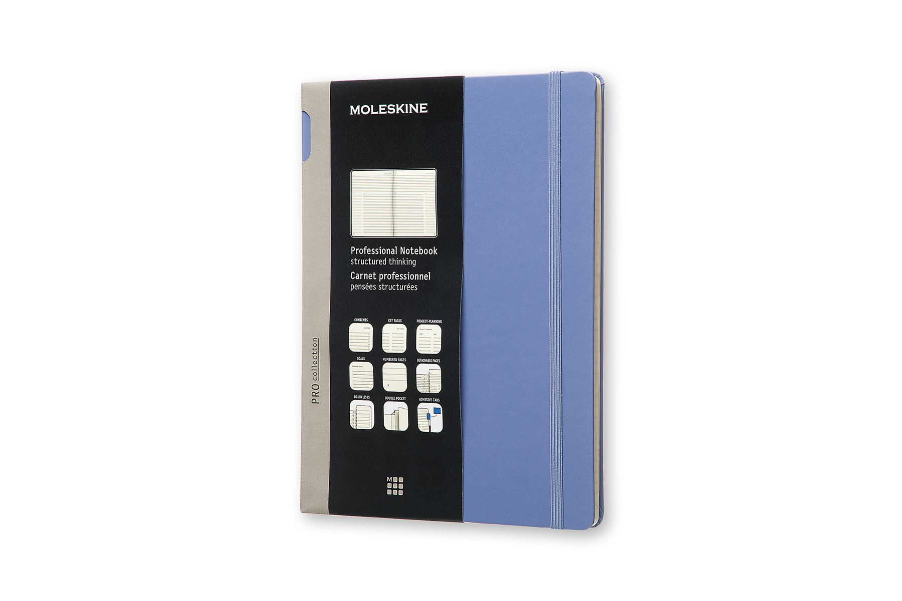 Moleskine Pro Hard Cover Notebook, Professional, XL Lavender