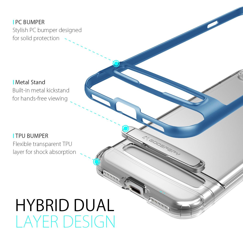 Iphone 7 Case Ultra Slim Fit Goospery Hybrid Dream Samsung S8 Plus Bumper Silver Kickstand Impact Resistant Air Pocket Corner Protection Tpu Pc Dual