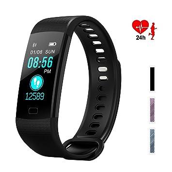 87bd4c75b WADEO Fitness Tracker, Pulsera de Actividad Smart Bluetooth Pulsera  podómetro Smart Bracelet Sleep Monitor,