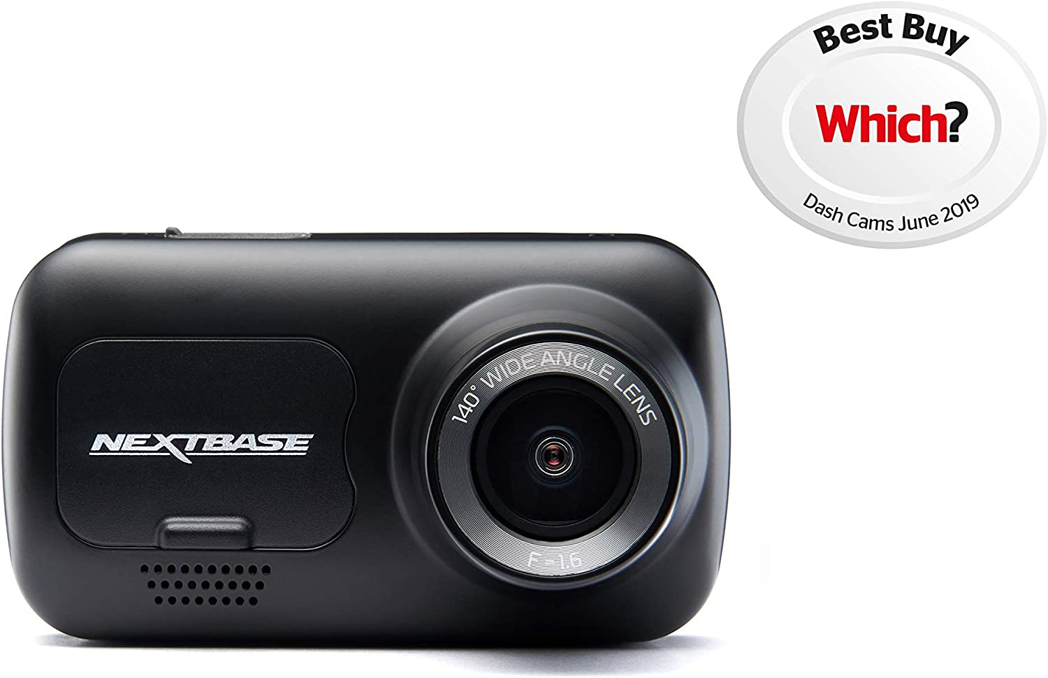 "Nextbase 122 Dash Cam 2"" HD Wireless Compact Car Dashboard Camera, Intellegent Parking Mode, Loop Recording, Black"