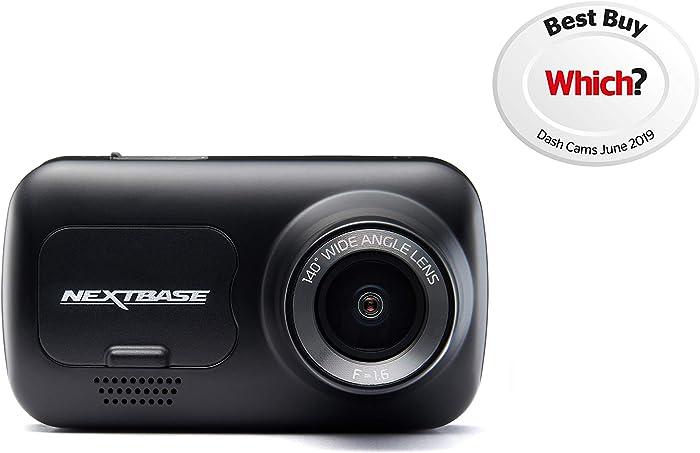 "Nextbase 122 Dash Cam 2"" HD Wireless Compact Car Dashboard Camera, Intellegent Parking Mode, Loop Recording, Black"
