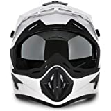 Vega Offroad Gloss White Men's Full Face Helmet