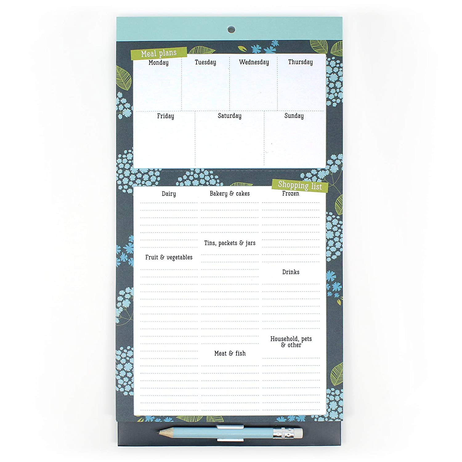 Boxclever Press Meal Planner & Grocery List magnet pad for fridge  Awesome  daily planner with meal plan section & easy tear-off shopping list to save