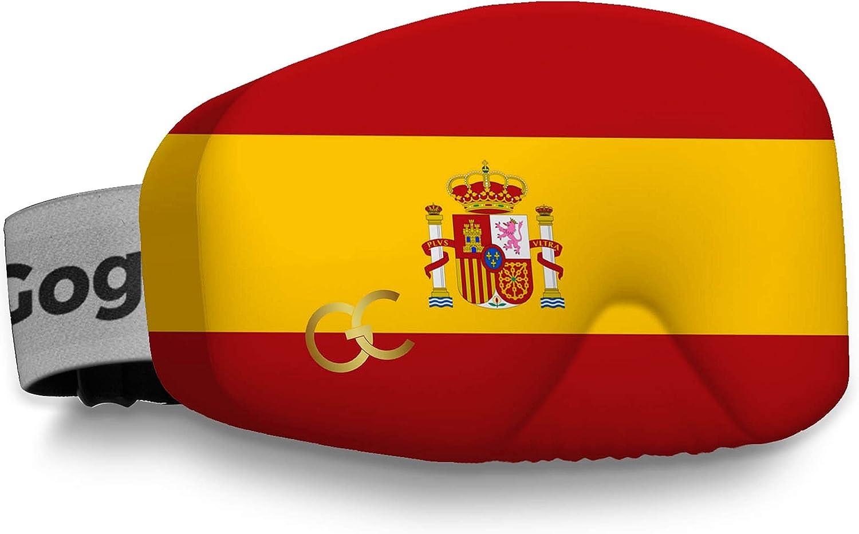Funda para gafas de esquí, protege las gafas de arañazos, diseño de la bandera de España: Amazon.es: Deportes y aire libre