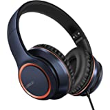 LORELEI X8 Over-Ear Wired Headphones with Microphone with 1.45m-Tangle-Free Nylon Line&3.5mm Plug,Lightweight Foldable & Port