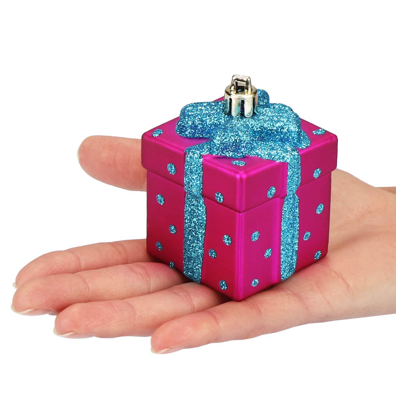 irrompible com-four/® 4X Juego de Etiquetas de /árbol de Navidad Regalos en Blanco Plateado 04 Piezas - Regalo Decoraci/ón del /árbol de Navidad para la decoraci/ón del /árbol de Navidad