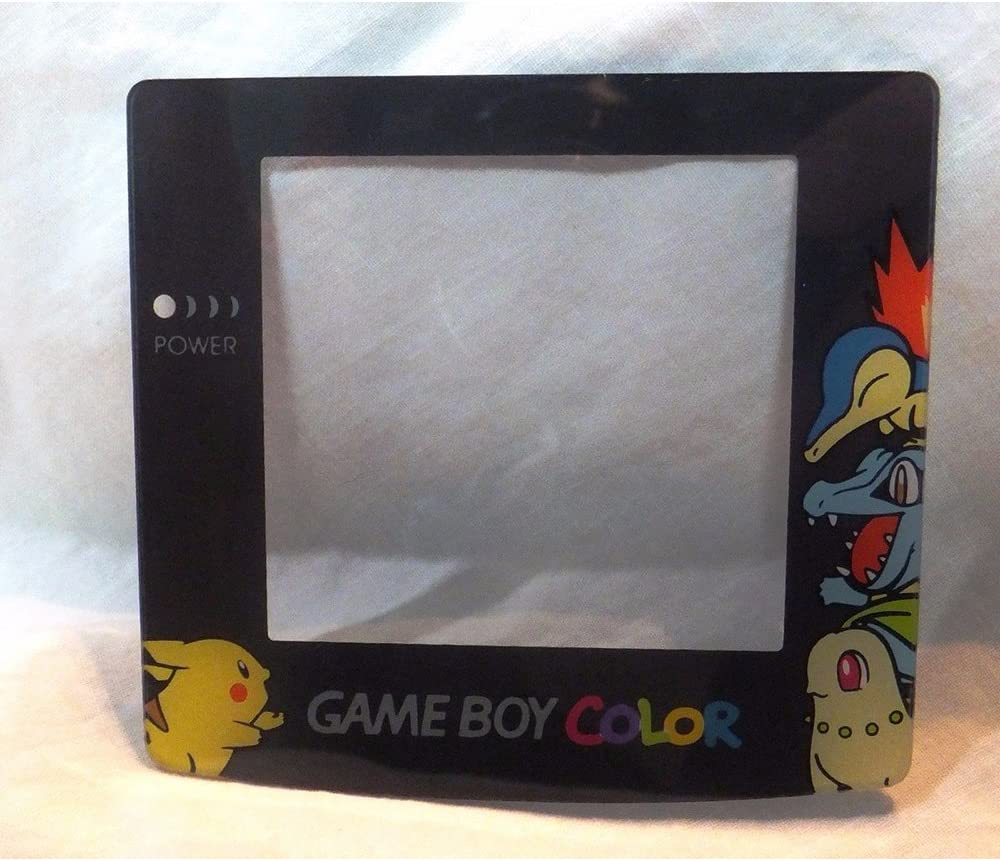 Game Boy Color (GBC) Screen Protector (Lens)- Pokemon/Pikachu SilverGold [4C, R] Mortoff Games
