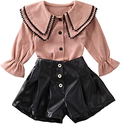 US Toddler Baby Girl Kid Ruffles Lace Dress Suit Skirt Party Tops Summer Clothes