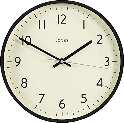Jones Clocks Studio Large Round Wall Clock Modern Colour Design Perfect As A Kitchen Clock Living Room Wall Clock Or Office Clock With Easy To Read Numbers 30cm Amazon Co Uk Kitchen Home