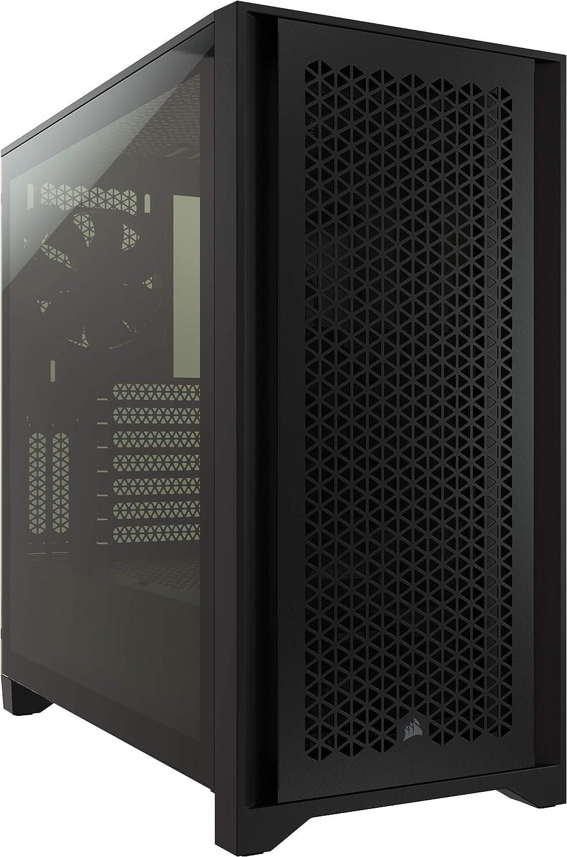 gabinete gamer mid tower atx Corsair 4000D airflow negro