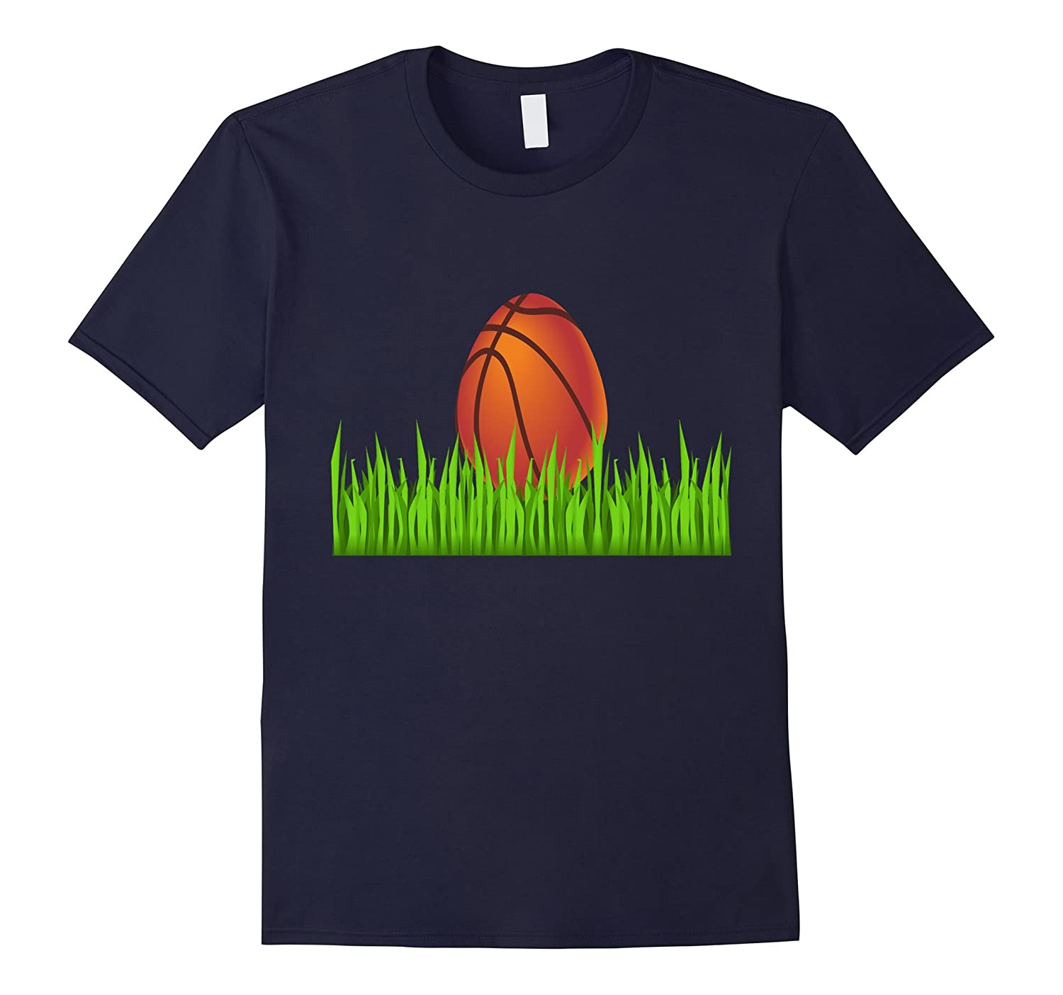 Basketball Egg Shirt for Boys Easter Sports Ball Themed Tee-TD