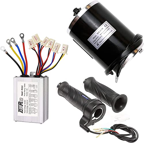 TDPRO 48V 1000W Brushed Speed Motor Controller Throttle Grip Kit for Electric Scooter Go Kart Bicycle e Bike Tricycle Moped