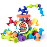 Squigz 24pc Starter Sucker Cup Building Set by Fat Brain Toys Construction...