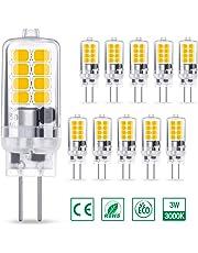 AMBOTHER G4 LED Lampe 3W 350LM, Warmweiß 3000K 16x 2835 SMD ersetzt 30W Halogenlampe, Kein Flackern CRI 85, 360° Abstrahlwinkel 12V AC/DC, Nicht Dimmbar G4 LED Leuchtmittel Birnen Glühbirne, 10er Pack